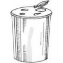 Odpadový kontajner otvárací objem 60 l na ihly a striekačky